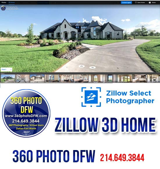 360 photo DFW offers Zillow 3D Home photography service in Dallas Fort Worth