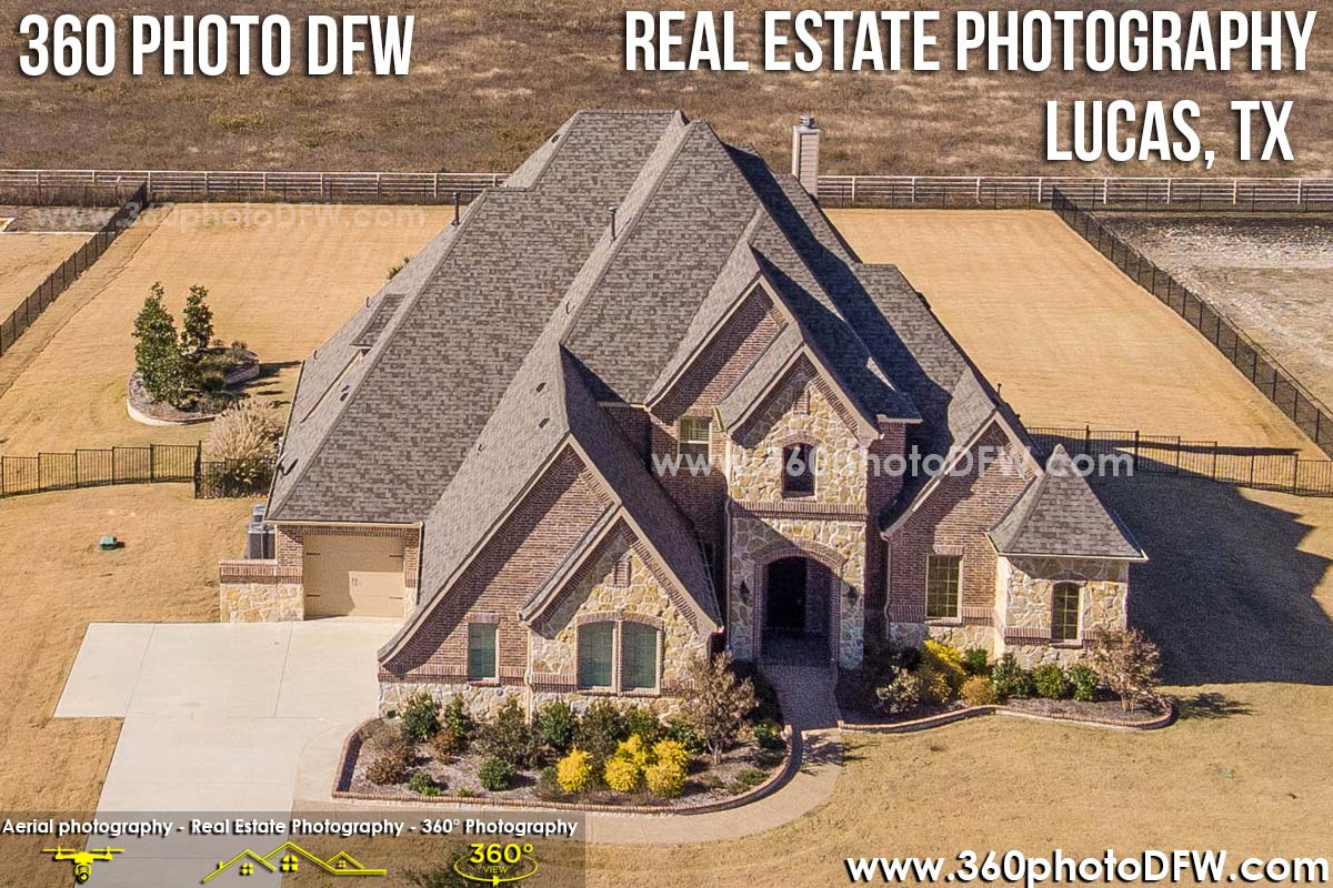 Real Estate Photography, Aerial Photography in Lucas, TX - 360 Photo DFW