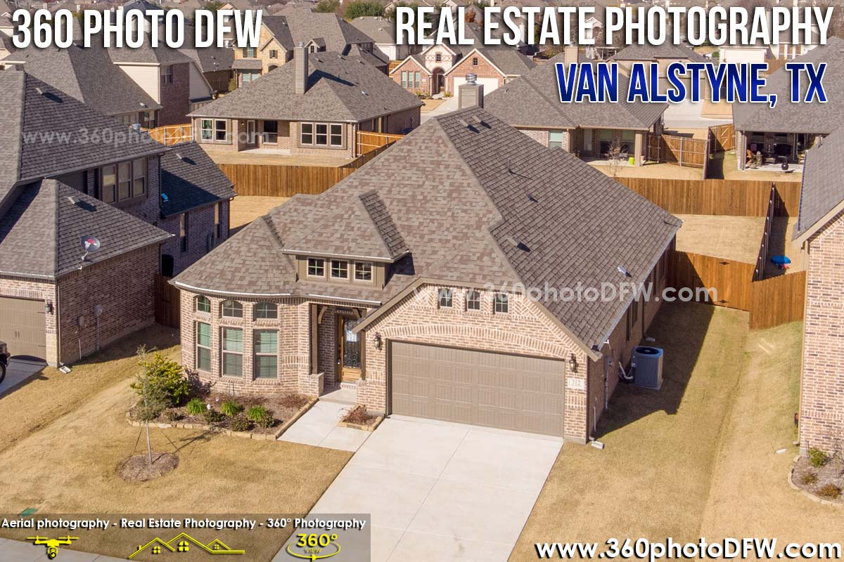 Real Estate Photography, Aerial Photography in Van Alstyne, TX - 360 Photo DFW