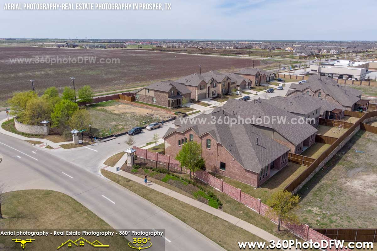 Aerial Photography, Real Estate Photography in Prosper, TX - 360 Photo DFW - 214.649.3844