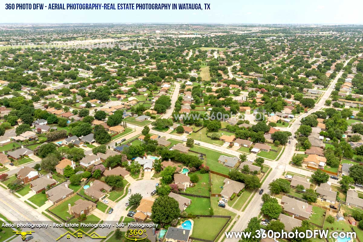 Aerial Photography, Real Estate Photography in Watauga, TX - 360 Photo DFW - 214.649.3844