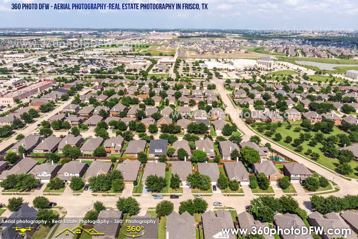 Aerial Photography, Real Estate Photography in Frisco, TX - 360 Photo DFW - 214.649.3844