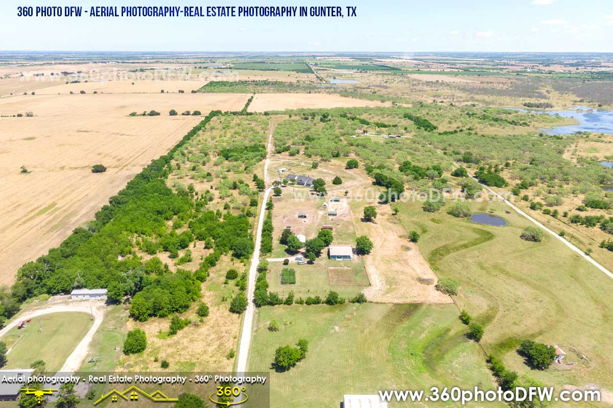 Real Estate Photography, Aerial Photography in Gunter, TX - 360 Photo DFW - 214.649.3844
