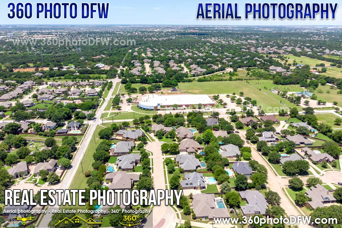 Aerial Photography, Real Estate Photography in Keller, TX - 360 Photo DFW - 214.649.3844