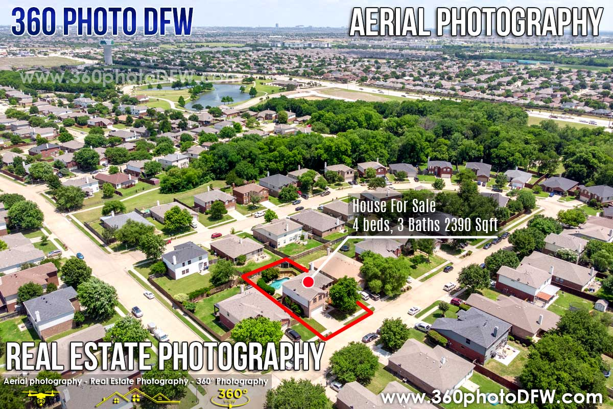Real Estate Photography, Aerial Photography in Little Elm, TX - 360 Photo DFW - 214.649.3844