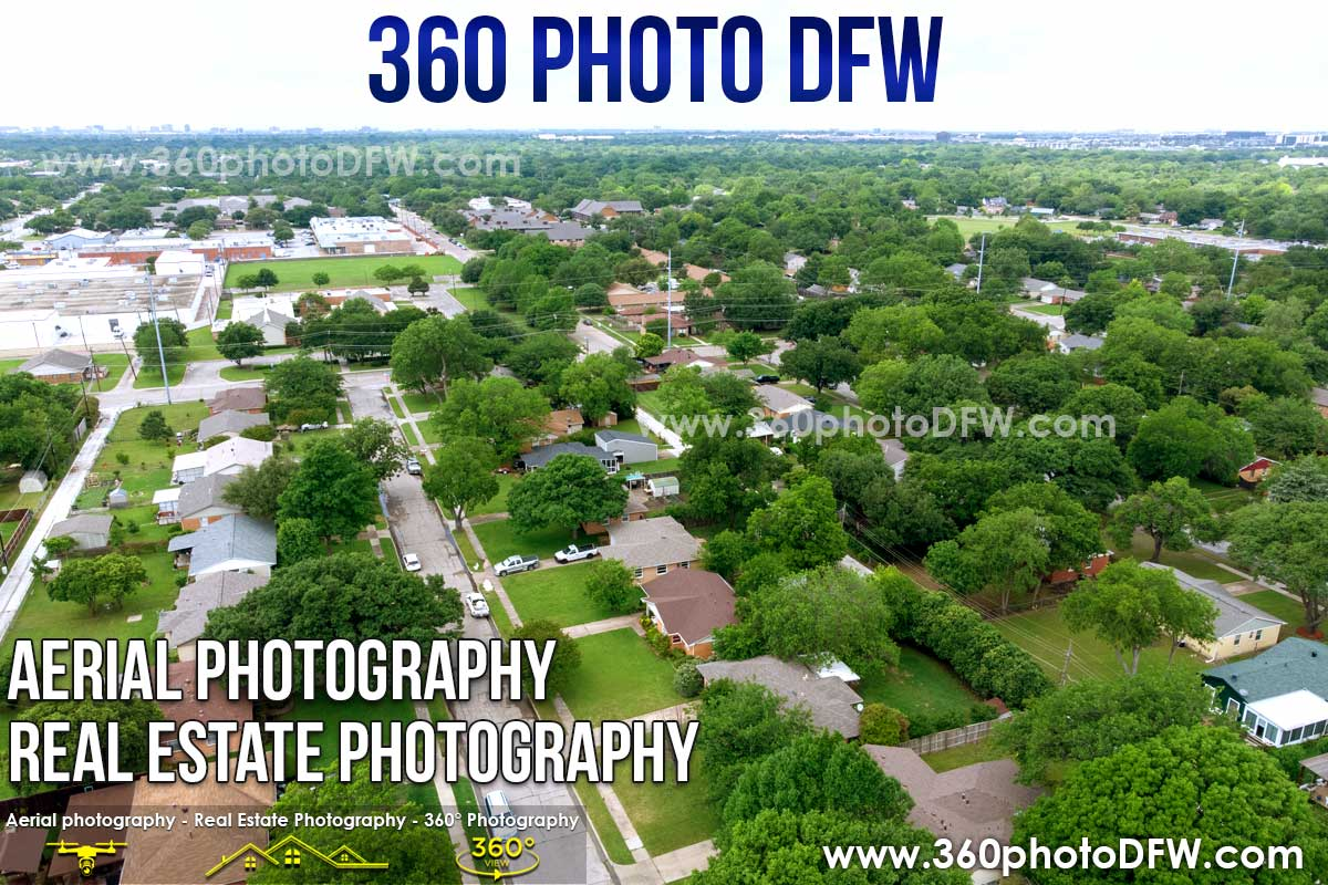 Aerial Photography, Real Estate Photography in Richardson, TX - 360 Photo DFW - 214.649.3844