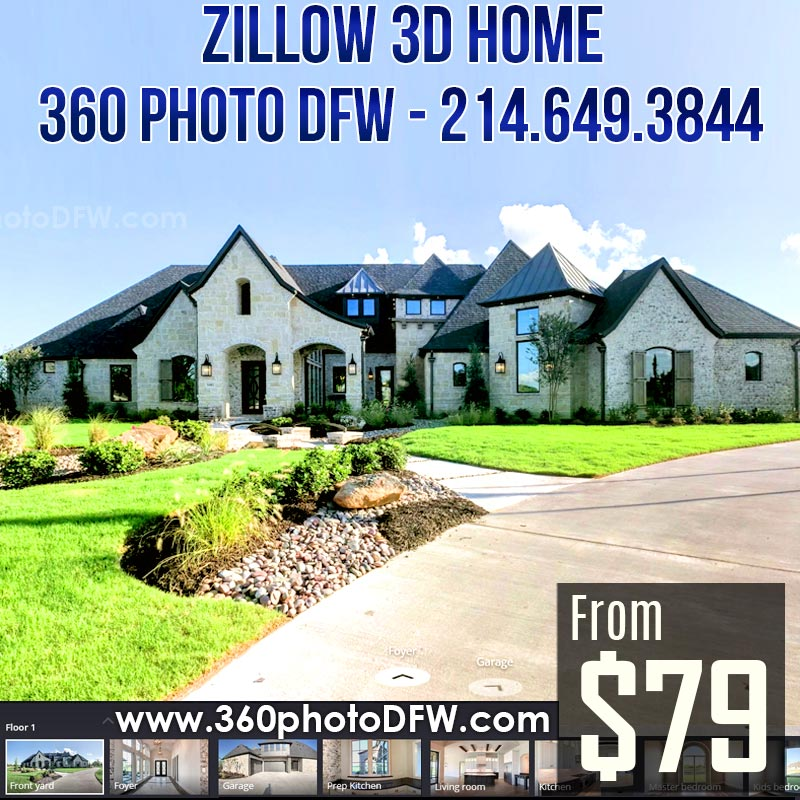 Zillow 3D Home Photography in Dallas-Fort Worth - 360 Photo DFW - 214-649-3844