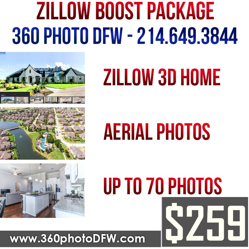 Zillow BOOST Photography Package in Dallas-Fort Worth - 360 Photo DFW - 214-649-3844