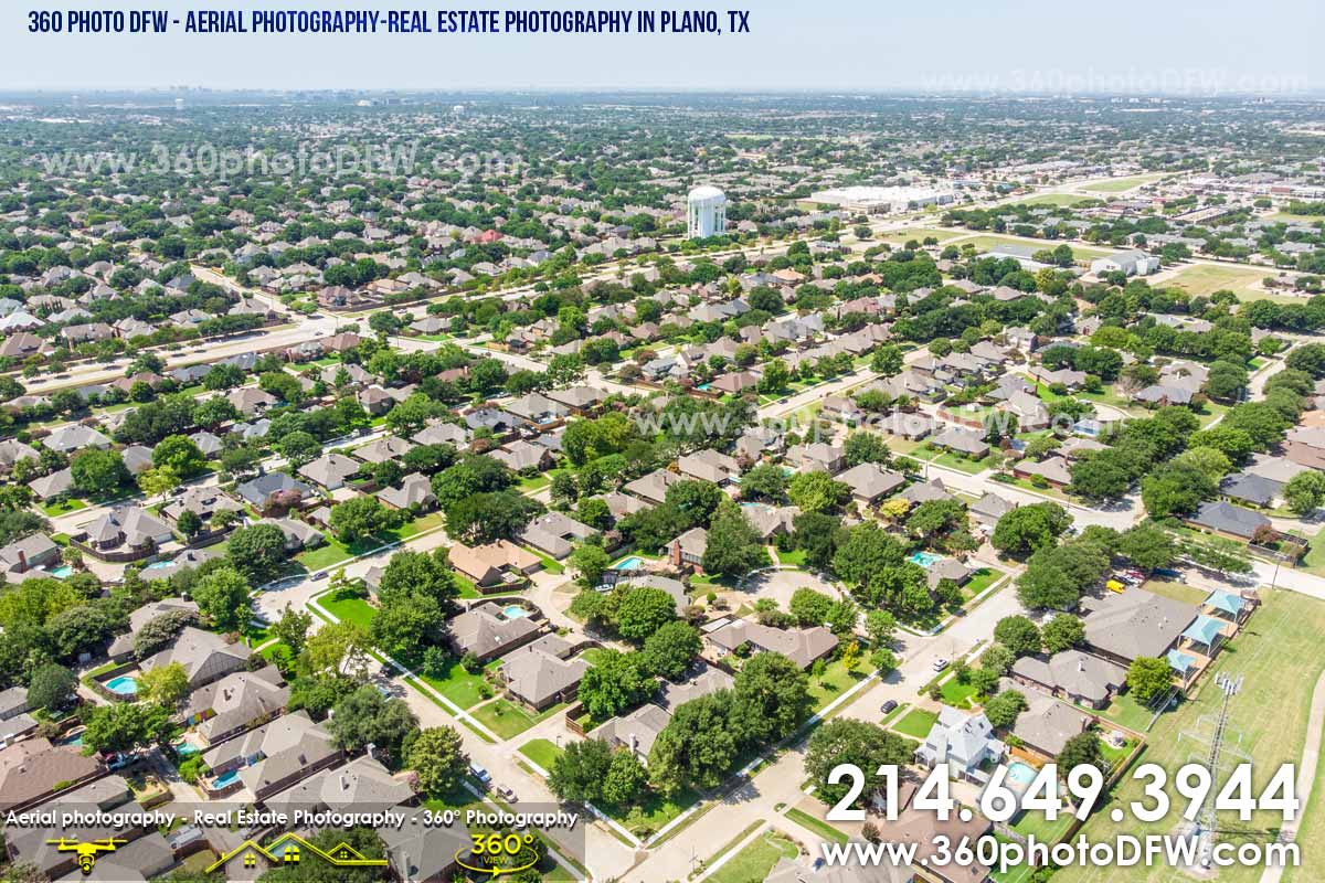 Aerial Photography, Real Estate Photography in Plano, TX - 360 Photo DFW - 214.649.3844