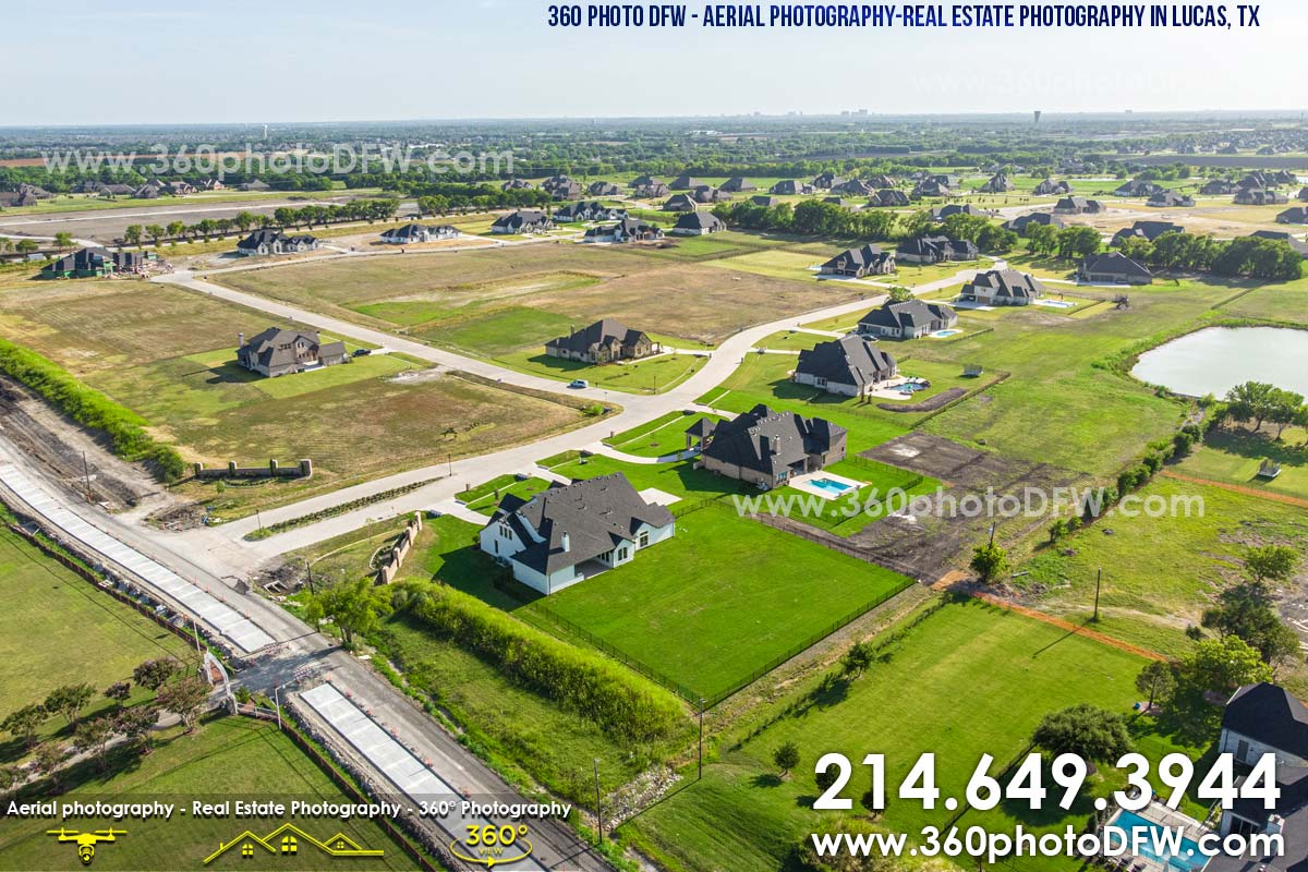 Aerial Photography, Real Estate Photography in Lucas, TX - 360 Photo DFW - 214.649.3844