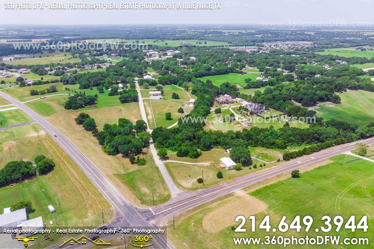 Aerial Photography, Real Estate Photography in Blue Ridge, TX - 360 Photo DFW - 214.649.3844