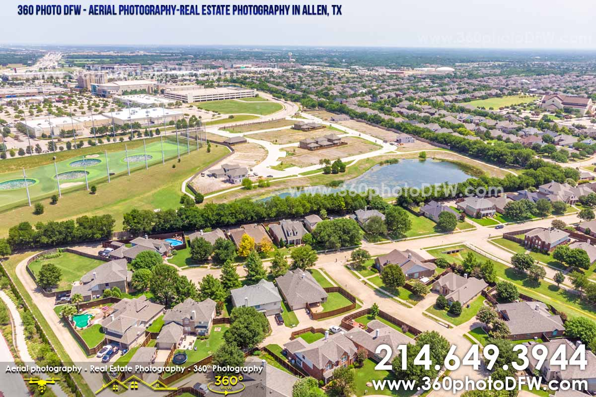 Aerial Photography, Real Estate Photography in Allen, TX - 360 Photo DFW - 214.649.3844