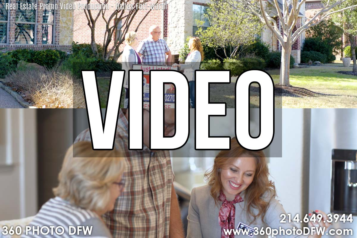 Real Estate Promo Video- Realtor Promo Video - 360 Photo DFW
