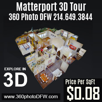 3D Tour service matterport in DFW- Call 214.649.3844