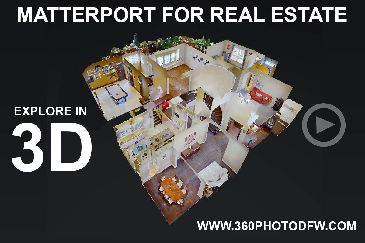 3D matterport scans in DFW- Call 214.649.3844