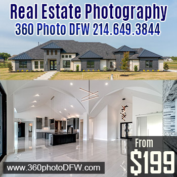Real Estate Photography in Dallas-Fort Worth - 360 Photo DFW - 214-649-3844